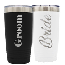 Bride And Groom Insulated Tumbler Set of 2