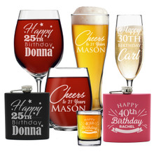 Personalized 30th 40th 50th Birthday Glasses