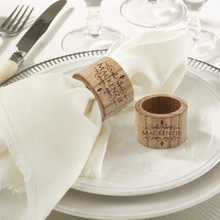 Customized Napkin Ring Set