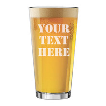 Custom Engraved 16 oz. Pint Beer