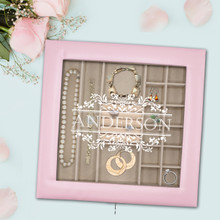Custom Personalized Jewelry Box Organizer Case