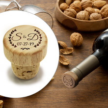 Custom Engraved Wood T-Cork  Wine Stopper