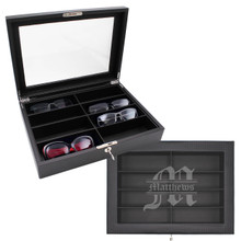 Custom Personalized Leather Sunglasses Organizer Case