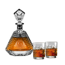 Personalized Triangle Whiskey Decanter