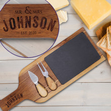 Custom Slate Tray with  Cheese Tools