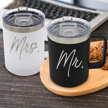 Mr and Mrs Insulated Coffee Mugs
