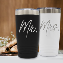 Mr and Mrs Insulated Tumbler Set