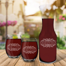 Personalized Wine Carafe Set