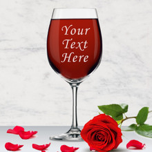 Personalized Wine Glass with Text or Name