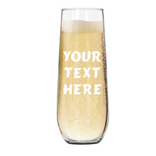 Personalized Champagne Flute with Text or Name