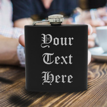 Personalized Flask with Your Custom Text