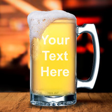 Custom Engraved Beer Mug with Text