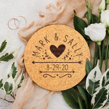 Cork Wedding Coaster Favors
