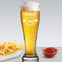 Customized Funny Pilsner Glass for Dad