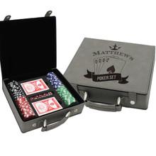 Custom Engraved Personalized Poker Set