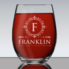 Custom  Personalized 15 oz Stemless Wine Glass