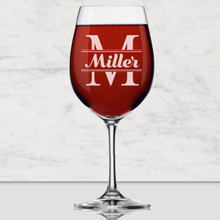 Custom  Engraved 16 oz Wine Glass with Stem