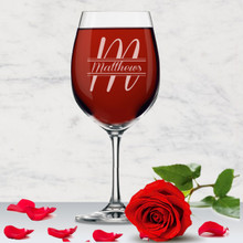 Personalized Name Wine Glass with Stem