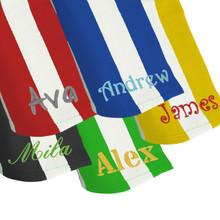 "Personalized Microfiber Striped Beach Towel - 30"" x 60"""