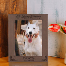 Personalized  Pet Loss Memorial Picture Frame