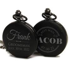 Personalized Groomsmen Pocket Watch