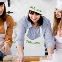 Custom Personalized Apron and Chef Hat Set