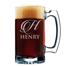 Custom Personalized and Engraved 12 oz Beer Mug