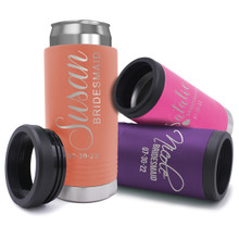 Custom Personalized Slim Can Cooler For Skinny Beer and Hard Seltzer