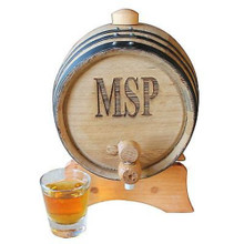 Personalized 2 Liter Mini-Oak Whiskey Barrel