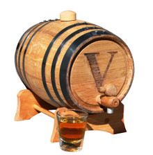 Personalized 1 Liter Mini-Oak Whiskey Barrel