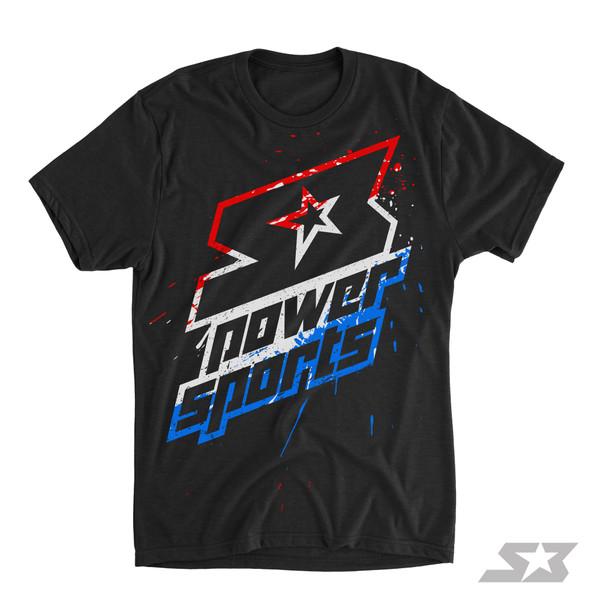 S3 Power Sports Bomb-Pop Overspray Logo T-Shirt