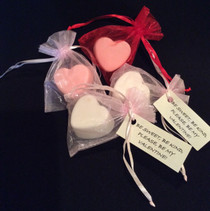 small heart shaped soap