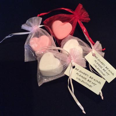 small heart shaped soap