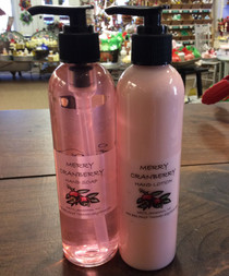 Merry Cranberry liquid hand soap and lotion