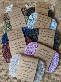 Original Soap Lifts in assorted colors made from multi-directional bioplastic.  Made in the USA.