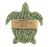 Soap Lift Turtle shape made in the USA of multi-directional bioplastic.