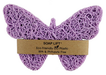 Soap Lift butterfly shape made in the USA of multi-directional bioplastic.