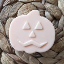 Happy Jack O'Lantern Pumpkin Face, Small Guest Size Soap