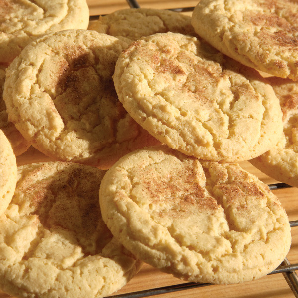 Made with plenty of butter, our snickerdoodles are as fun to eat as the are to pronounce! This soft blonde cookie is rolled in cinnamon sugar to make a delicious combination.  Each cookie is approximately 3 in diameter.