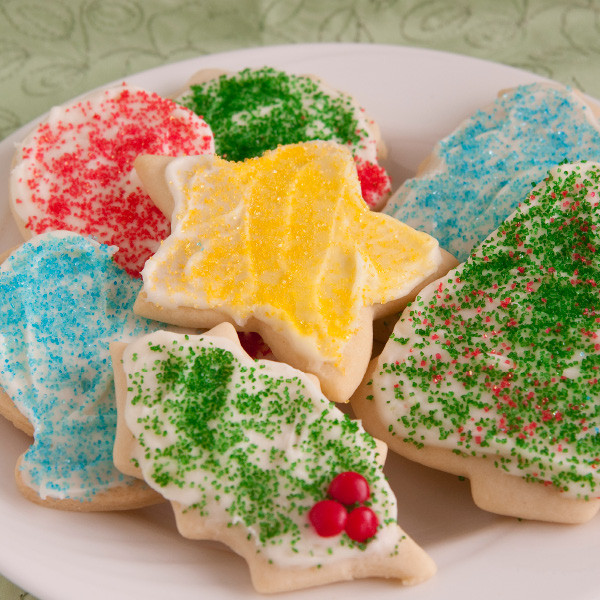 Special for the Christmas season, our cut-out cookies are soft, sweet and made from scratch. Baked and shipped the same day, these buttery cookies are topped with cream cheese frosting and will make you the most popular person in your house or office. Order plenty to share - they disappear quickly!  Homemade in Ohio's Amish Country.