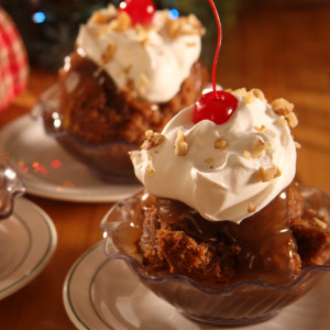 "If you've ever visited our Der Dutchman and Dutch Valley restaurants, you may have tried our date pudding dessert. An Ohio Amish tradition, date pudding is really a moist spice cake made with dates and walnuts. Baked in our bakeries, it's served in our restaurants topped with warm homemade caramel sauce and whipped cream.  Comes baked in an 8"" x 8"" pan. Caramel sauce is packaged separately.  Homemade in Ohio's Amish Country."