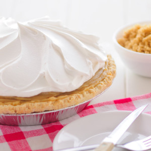 An old fashioned pie, our butterscotch pie has the the sweet rich taste of brown sugar cooked slowly in a luxurious custard filling. We carefully measure and package each ingredient to make your pie just like the ones we serve in our Der Dutchman Restaurants. No baking is required! Assemble in minutes, according to our included instructions. Prepared and shipped from Ohio's Amish Country.   Contents of the kit: One 9 inch baked pie crust Cooked butterscotch filling Whipped cream