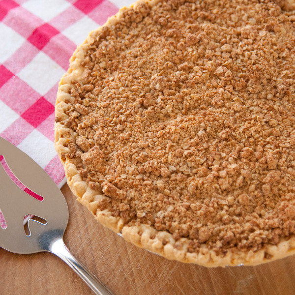 "Just the right blend of sweet and tangy, our cherry pie is made with tart, ripe sour cherries. No artificial flavorings and colorings are used. Generously topped with crumbs for the ""Dutch"" flair. Pies will arrive pre-baked and frozen in an insulated shipping cooler. Simply thaw in the oven and your home will be filled with the sweet scent of our Amish bakery. Instructions are included. Baked and shipped from Ohio's Amish Country.   Available as a 9 inch pie. We do not use high-fructose corn syrup to make our fruit pie fillings."