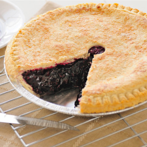 All the taste without the briars! Sweet fresh blackberries are cooked with natural sweeteners then baked in a homemade pie crust. No artificial coloring or flavoring is added. Our Amish double-crusted fruit pies are lightly brushed with butter and sprinkled with sugar to brown the crust. Pies will arrive pre-baked and frozen in an insulated shipping cooler. Simply thaw in the oven and your home will be filled with the sweet scent of our Amish bakery. Instructions are included.  Available as a 9 inch pie. We do not use high-fructose corn syrup to make our fruit pie fillings. Baked and shipped from Ohio's Amish Country.