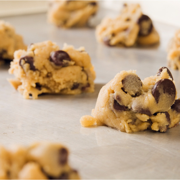 Even if you don't really have time to bake, we've made it easy to always have fresh cookies on hand. Made with the same recipes we use in our bakeries, our cookie dough comes nine varieties. Icing for frosted cookies (buttermilk, iced oatmeal and cut-out cookies) is included in your price. Drop onto a cookie sheet and bake - it's easy!   Available in 3 lb. tubs. Makes approximately 3 dozen medium-sized cookies.