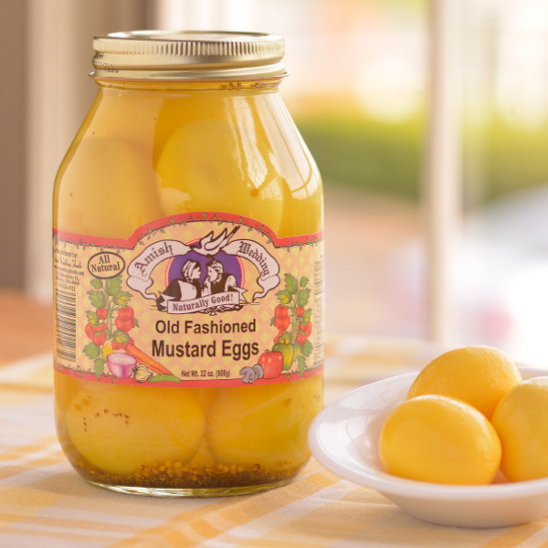 Amish Wedding Foods Pickled Mustard Eggs