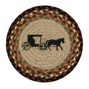 Amish Buggy Silhouette Trivet