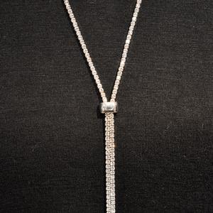 Slide Bolero Necklace, Silver