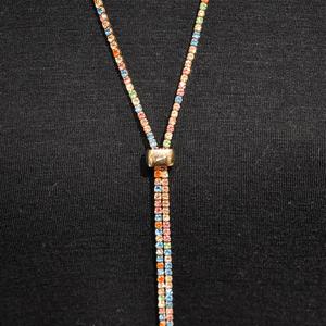 Slide Bolero Necklace, Vibrant Multi-color