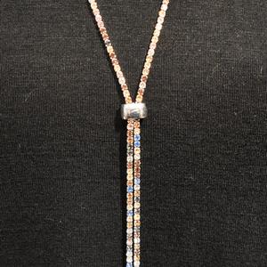 Slide Bolero Necklace, Muted Multi-Color